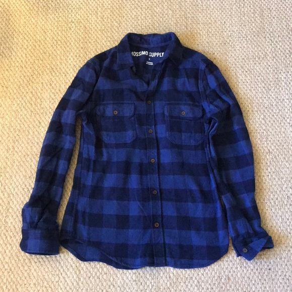 ccea658c4a0 Mossimo Blue Plaid Flannel Shirt. M_5a95a5d8077b97adb064424d. Other Tops  you may like